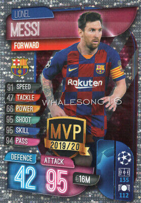 Match Attax 2019/20 19/20 Lionel Messi Mvp Trading Card - Barcelona