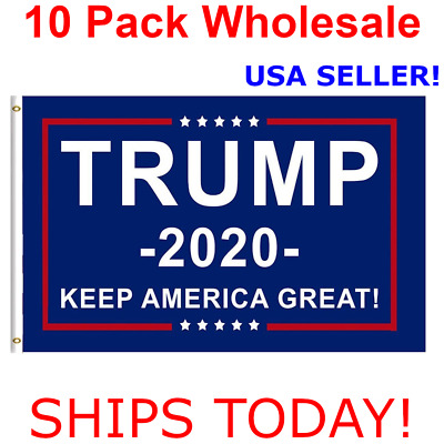10-Pack Trump 2020 Keep America Great President MAGA 3x5 Ft Flag Wholesale lot