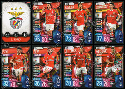 Match Attax 2019/20 19/20 Benfica Full Team Set Of 8 Cards - Complete Base Set