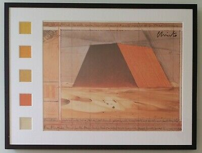 Christo and Jeanne Claude: The MASTABA  big lito collage with 5 fabrics