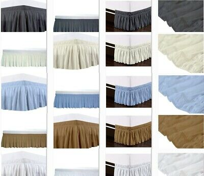 KING AND QUEEN SIZE MICROFIBER BED SKIRT//DUST RUFFLE 1200 THREAD COUNT SOFTNESS