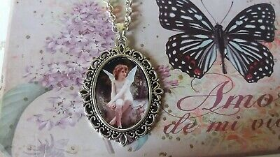 Collar mujer hada angel angeles woman necklace caballo picture pendant necklace