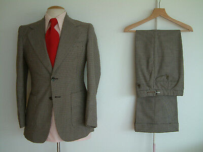 """1970's SUIT..FLARED..38"""" x 32""""..PERMANENT TURN UP'S..SEXTON..NUTTER..JAGGER..ROW"""