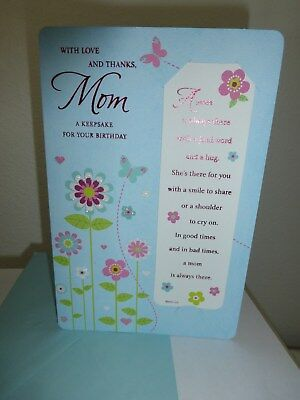 "American  Greetings Card ""Happy Birthday Mom"" w/bookmarker-Gorgeous"