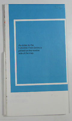 1968 old vintage OS Ordnance Survey 1:25000 First Series Map SO 51 Monmouth