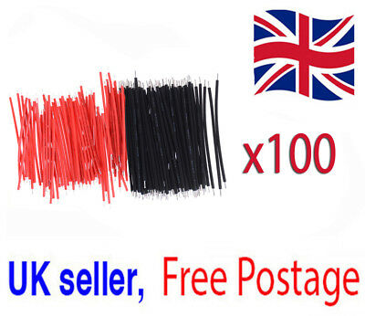 100x 6cm Jumper Cable Breadboard Solderless electric wire test Arduino Wire  *