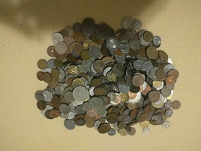 11 LBS Lot Mixed World Coins,including 1 pound Mexican coins over 40 Countries