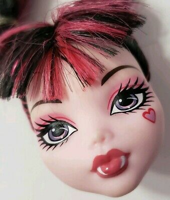 Monster High Doll Dead Tired Draculaura Replacement Head Only For Ooak Ponytails