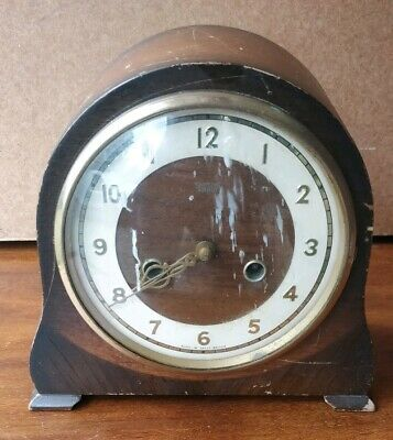 SMITHS ANTIQUE ART DECO STRIKING MANTEL CLOCK, circa 1951. EXCELLENT & RARE!