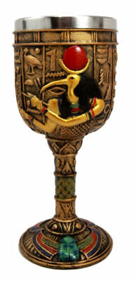 "6.75""H Egyptian Mythology God Thoth 6oz Resin Wine Goblet Chalice Cup Resin"