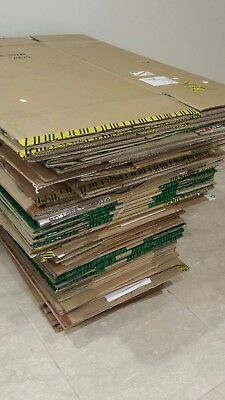 45 x CARDBOARD MOVING PACKING AND STORAGE BOXES. USED.