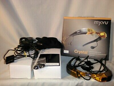 Myvu Crystal Personal Media Viewer, Made for iPod Edition Orange 2 Chargers