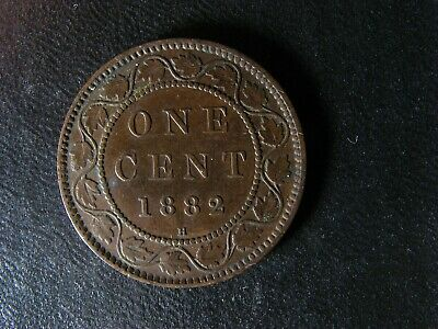1 cent 1882H Obv. 1 Canada large one copper penny coin Queen Victoria c ¢ VF-20