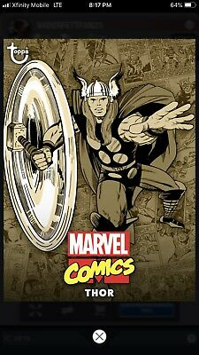 Topps MARVEL COLLECT Digital Card Trader COMIC CLASSIC WAVE 1 SEPIA - THOR