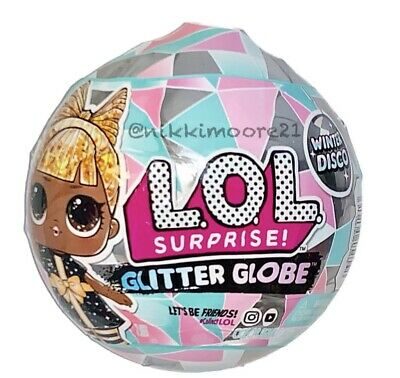 1 LOL Surprise Doll Winter Disco Series Glitter Globe Ball Holiday OMG IN HAND
