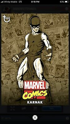 Topps MARVEL COLLECT Digital Card Trader COMIC CLASSIC WAVE 1 SEPIA - KARNAK