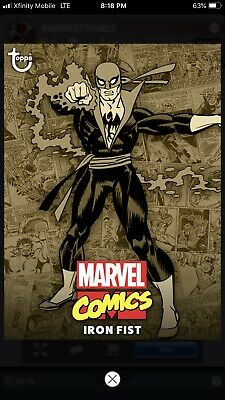 Topps MARVEL COLLECT Digital Card Trader COMIC CLASSIC WAVE 1 SEPIA - IRON FIST