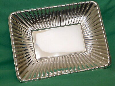"REED & BARTON Sterling Silver Tray / Dish ~ X302 ~ 11"" x 8 1/2"" ~ 471g"