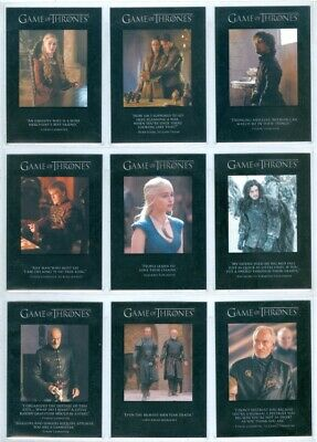 """Complete Quotable Set Q21-Q29"" Game Of Thrones Season 3"