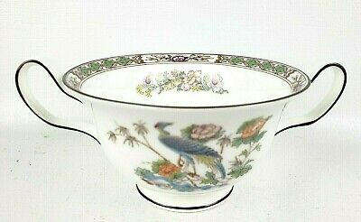 Wedgwood Kutani Crane Cream Soup Cup/Bowl Handles NO Saucer Made in England