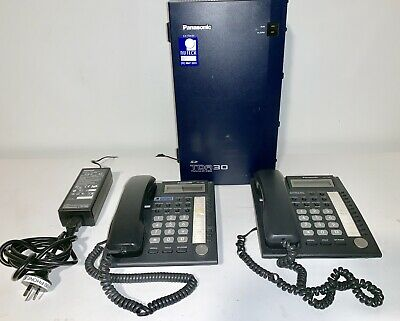 Panasonic Tda30 Hybrid Pabx  Kx-T7667 And Two Handsets