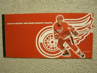 Detroit Red Wings 2006-07 Season Tickets Holder & Schedule Nicklas Lidstrom