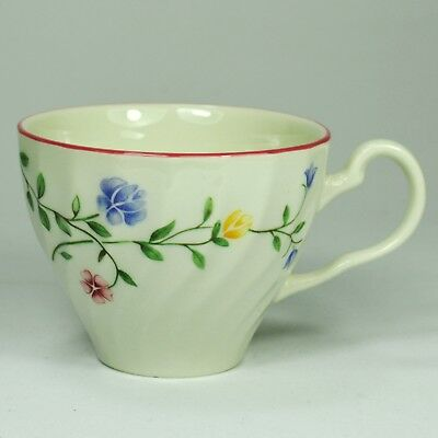 """BNWT Johnson Bros """"SUMMER CHINTZ"""" Flat Tea Cup - Made in England Stamp"""