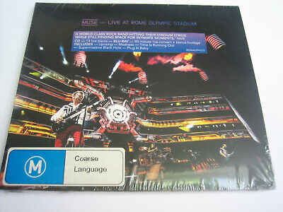 Muse - Live At Rome Olympic Stadium - New Cd+Blu-Ray- Neu + Orig. Verpackt!