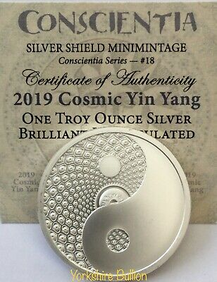 2019 1 oz Silver Shield Round - COSMIC YIN YANG