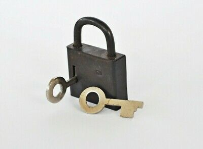 Rare Vintage Padlock USSR soviet old antiques Two Keys Soviet Union Collectible