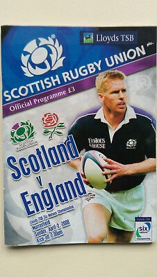 Scotland vs England Rugby Union 2000 Six Nations Programme