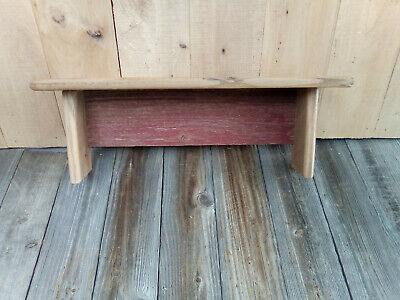 Barn Wood Rustic Country Primitive Wall Shelf Barn Red Farm House Patina N42
