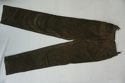 Soft Women's Leather Trousers Lederhose Real Gr.38 W25 L34 Suede Velours New D