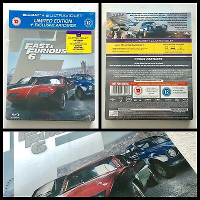 Fast and Furious 6 2013 Blu-ray Steelbook Limited Edition UK