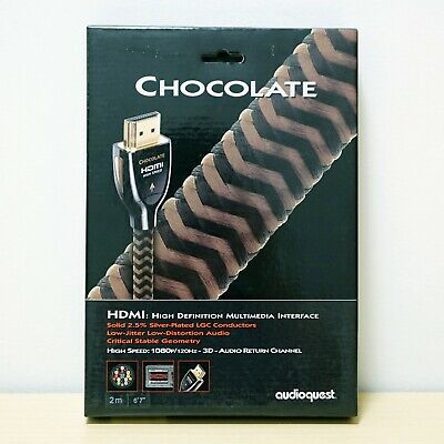 "NEW - AudioQuest Chocolate High Speed HDMI Cable 2 Meters  (6'7"")"