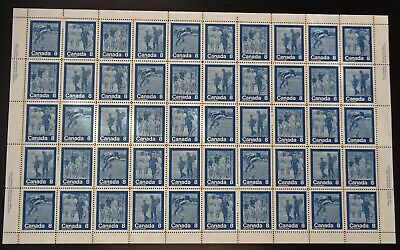 "Canada - Mint Sheet Of 50 Stamps - Vfnh - Scott 629/632 - ""Keep Fit"""