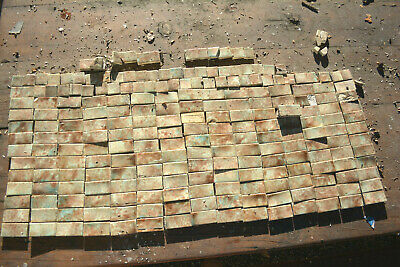 Antique Mottled Majolica Fireplace Surround Tiles 19th C. Trent Complete Set