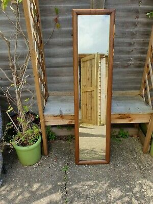Old Vintage Heavy Rustic Antique Original Mirror With Solid Wood Surround