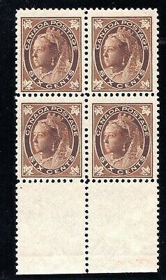 Canada - Cat. Scott 71 -Fvfnh - Block Of 4 - Queen Victoria - With Certificate