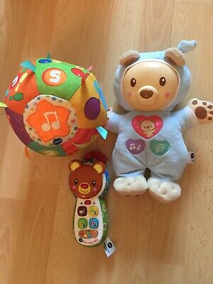 Vtech Baby Toys Bundle Peek & Play Phone, Bedtime Bear & Little Friendlies Music