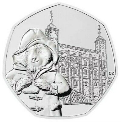 2019 UK Paddington at the Tower of London 50p Coin uncirculated from sealed bag