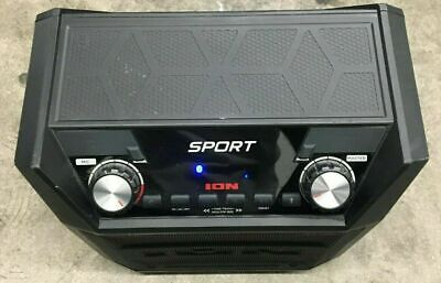ION Audio - Tailgater Sport Portable Bluetooth Speaker - Black FOR PARTS☝🏼