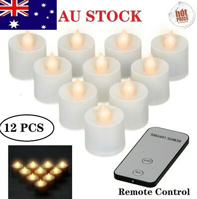 12X LED Flameless Candle Tea Light Tealight Wedding Decoration Battery Included