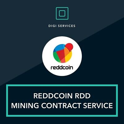 100 Reddcoin RDD mining contract cryptocurrency blockchain