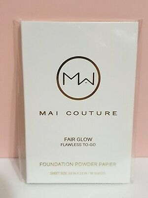 Mai Couture Foundation Powder Blotting Paper Fair Glow 50 sheets. Free Postage