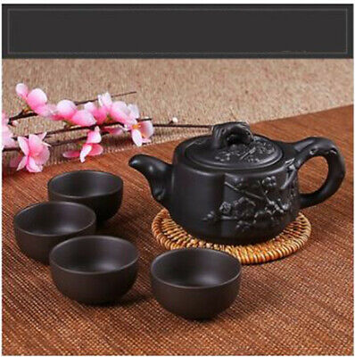 Kung Fu Pot Cup Set Chinese Porcelain Yixing Teapot Tea Pot   4 Cups