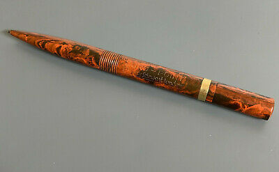 Conway Stewart Duro Point No. 9M Mechanical Pencil - Marbled RED Black - Works!
