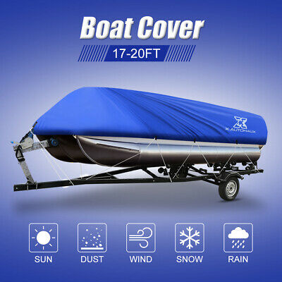 NEW 17-20' PONTOON Boat Cover, 300D, Trailerable, Carrying