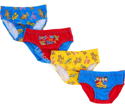 The Wiggles Boys 4 Pack Licensed Briefs - Size 2-3