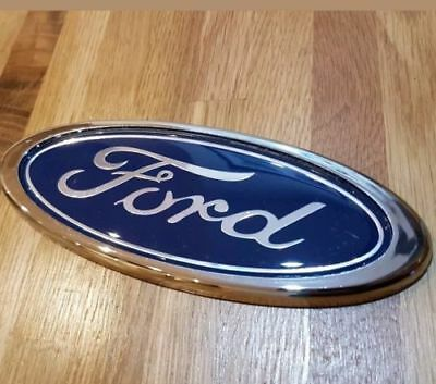 Ford Transit Connect Rear Door Badge 150Mm  Blue/Chrome Oval Logo Emblem